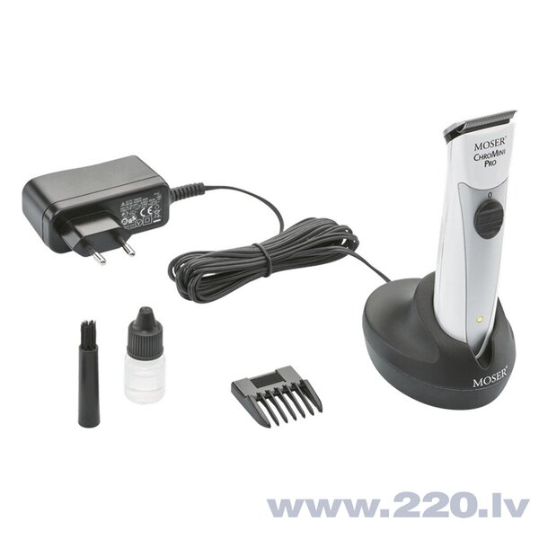 MOSER Professional Cordless hair trimmer CHROMINI PRO White - Mašinite matu griešanai, kantītei, balta internetā