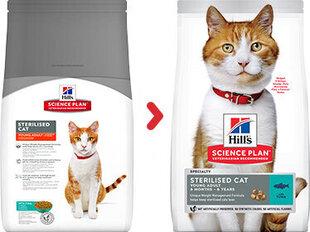 Hill's Science Plan Sterilised Cat Young Adult kaķu barība ar tunci, 1.5 kg cena un informācija | Sausā barība kaķiem | 220.lv