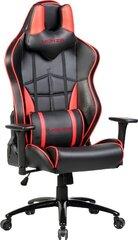 Spēļu krēsls Omega, melns/sarkans cena un informācija | Biroja krēsli | 220.lv