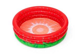 Piepūšamais bērnu baseins Bestway Sweet Strawberry, 160x38 cm, sarkans cena un informācija | Baseini | 220.lv