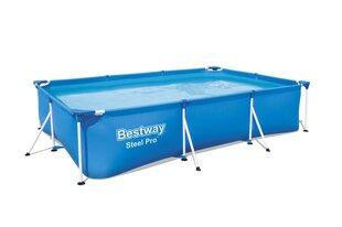 Karkasa baseins ar ūdens filtru Bestway Steel Pro, 300x201x66 cm, zils cena un informācija | Karkasa baseins ar ūdens filtru Bestway Steel Pro, 300x201x66 cm, zils | 220.lv