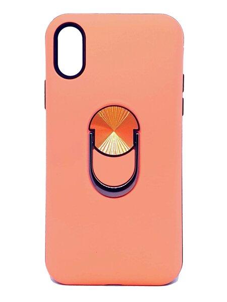Vāciņš ar gredzenu SoundBerry paredzēts iPhone X/XS, ROZĀ cena un informācija | Maciņi, somiņas | 220.lv