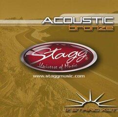 Струны для акустической гитары Stagg AC-12ST-BR цена и информация | Струны для акустической гитары Stagg AC-12ST-BR | 220.lv