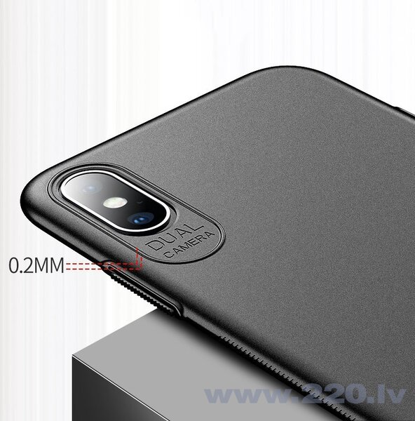 MSVII Simple Ultra-Thin Cover PC Case for iPhone XS Max black (Black)