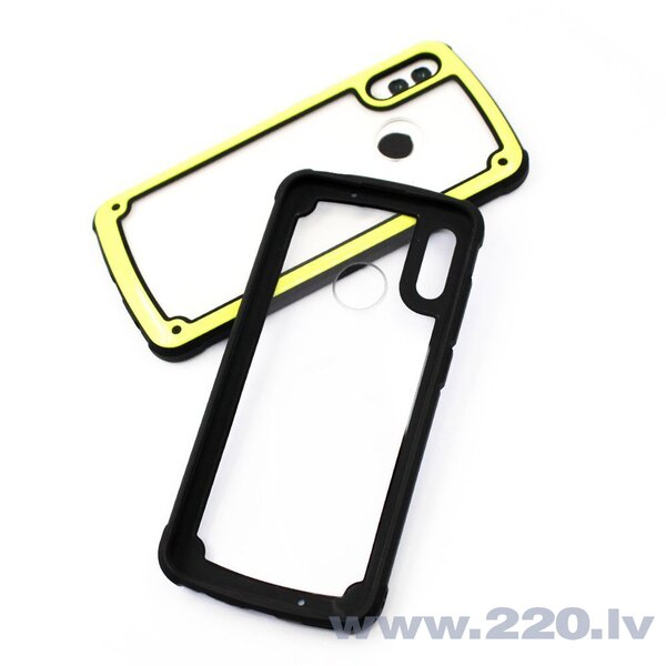 Solid Frame PC Case with TPU Bumper for Samsung Galaxy S9 Plus G965 yellow (Yellow) lētāk