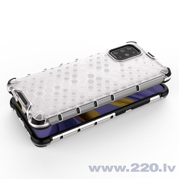 Honeycomb Case armor cover with TPU Bumper for Samsung Galaxy S20 Plus transparent cena