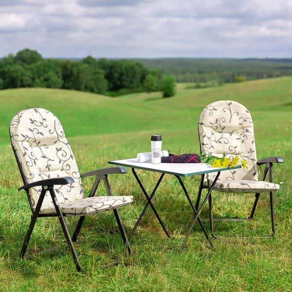 Saliekams tūristu galdiņš Patio Sevelit, balts/zaļš cena