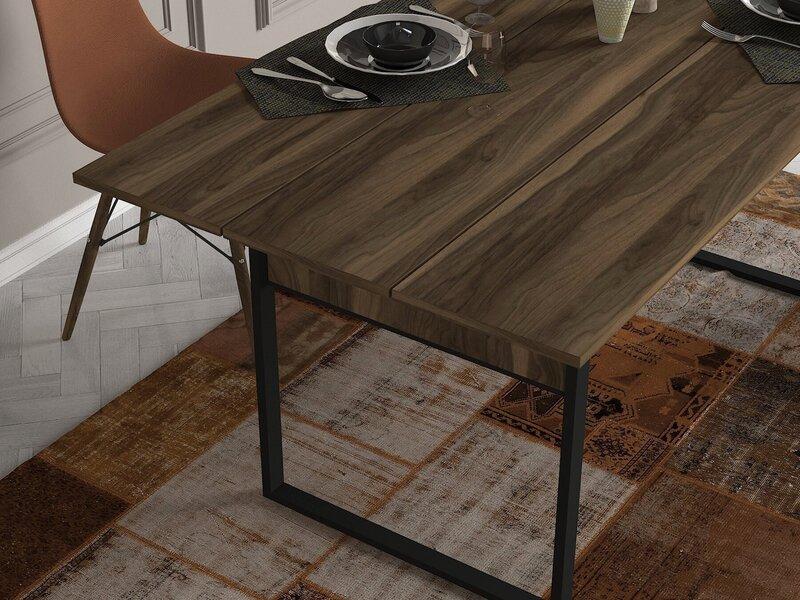 Ēdamistabas galds Kalune Design Lost, brūns