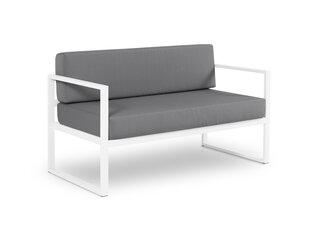 Divvietīgs āra dīvāns Calme Jardin Nicea, tumši pelēks/balts