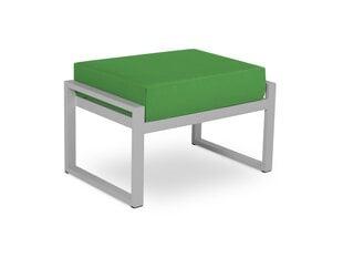 Āra pufs Calme Jardin Nicea, zaļš/gaiši pelēks cena un informācija | Dārza krēsli | 220.lv