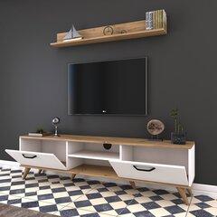 Sekcija Kalune Design M30, balta/gaiši brūna/melna cena un informācija | Sekcijas | 220.lv