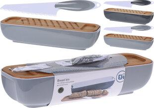 Excellent Housewares maizes kaste ar griešanas dēli un nazi, 40x12,5x8,5 cm cena un informācija | Virtuves piederumi | 220.lv