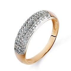 Zelta gredzens ar briljantu 09TPZ500052 cena un informācija | Gredzeni | 220.lv