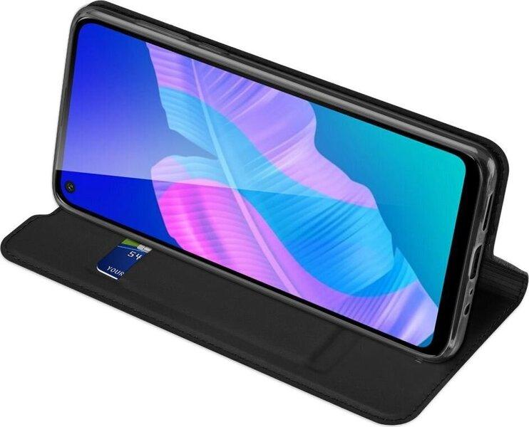 Dux Ducis Premium Magnet Case piemērots Huawei P40 Lite E, Melns