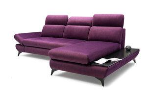 Stūra dīvāns Laski Meble Titan, violets cena un informācija | Stūra dīvāni | 220.lv