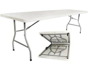 Saliekams āra galds, 240cm, balts cena un informācija | Dārza galdi | 220.lv