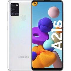 Samsung Galaxy A21s, 32 GB, Dual SIM, White cena un informācija | Mobilie telefoni | 220.lv