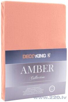 DecoKing Amber простыня на резинке 90x200 см цена и информация | Простыни | 220.lv