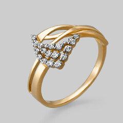 Zelta gredzens ar fianītiem 05PLT000890 cena un informācija | Gredzeni | 220.lv
