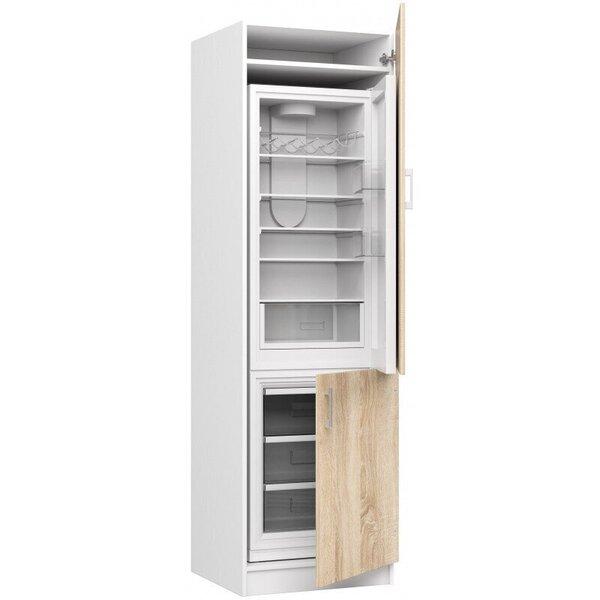 Augsts virtuves skapītis NORE Lima S60/205 LO, balts/ozola krāsas cena