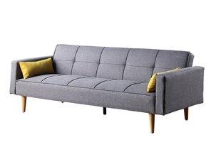 Dīvāns NORE Lund, gaiši pelēks/dzeltens cena un informācija | Dīvāni | 220.lv