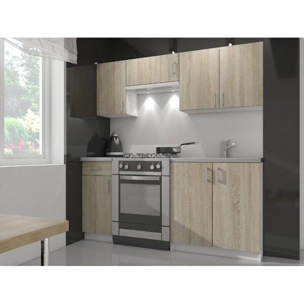 Virtuves skapītis NORE Lima S80 ar 3-s atvilktnēm, baltas/ozola krāsas