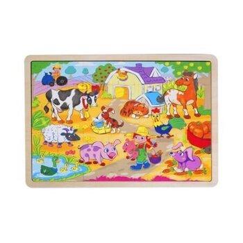 Деревянная головоломка с мотивом животных фермы Top Bright 35 деталей цена и информация | Игрушки для малышей | 220.lv