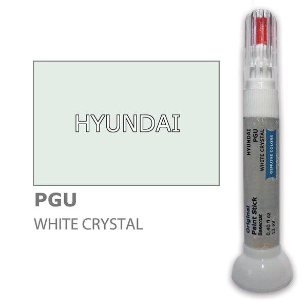 Krāsu korektors skrāpējumu korekcijai HYUNDAI PGU - WHITE CRYSTAL 12 ml