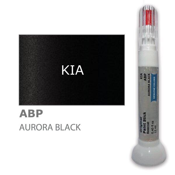 Krāsu korektors skrāpējumu korekcijai KIA ABP - AURORA BLACK 12 ml
