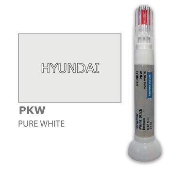 Krāsu korektors skrāpējumu korekcijai HYUNDAI PKW - PURE WHITE 12 ml cena un informācija | Auto krāsas | 220.lv