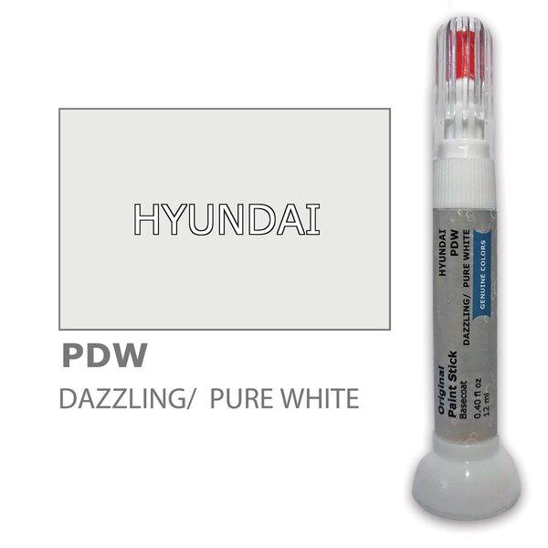 Krāsu korektors skrāpējumu korekcijai HYUNDAI PDW - DAZZLING/PURE WHITE 12 ml