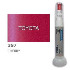 Krāsu korektors skrāpējumu korekcijai TOYOTA 3S7 - CHERRY 12 ml cena un informācija | Auto krāsas | 220.lv