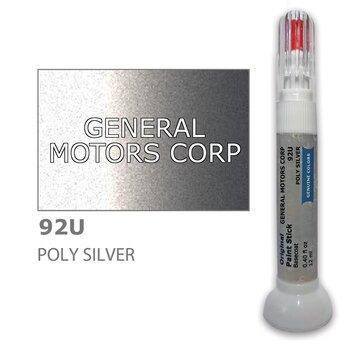 Krāsu korektors skrāpējumu korekcijai GENERAL MOTORS CORP 92U - POLY SILVER 12 ml cena un informācija | Auto krāsas | 220.lv