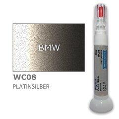 Krāsu korektors skrāpējumu korekcijai BMW WC08 - PLATINSILBER 12 ml cena un informācija | Auto krāsas | 220.lv