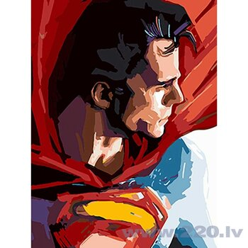 Gleznošanas komplekts Supermens cena un informācija | Gleznas pēc numuriem | 220.lv