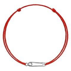 Sarkana kabalas aproce Pin, sudraba cena un informācija | Rokassprādzes | 220.lv