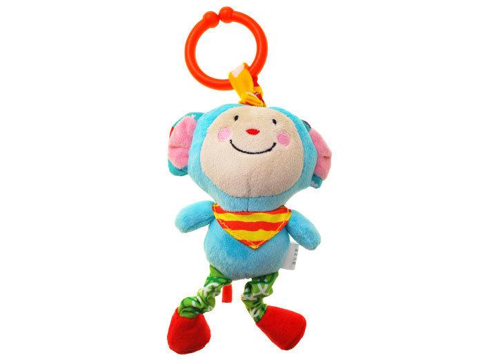 Vibrējoša piekaramā rotaļlieta Pērtiķis cena un informācija | Rotaļlietas zīdaiņiem | 220.lv