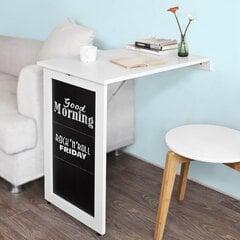 Saliekamais virtuves galds SoBuy FWT20-W, balts cena un informācija | Virtuves galdi, ēdamgaldi | 220.lv