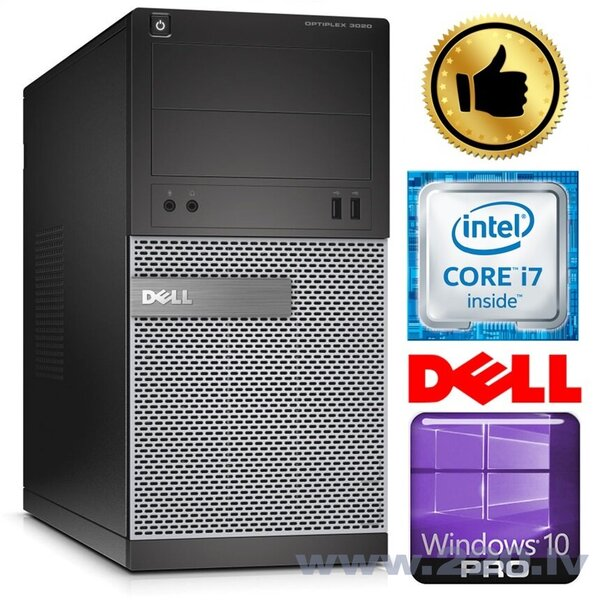 DELL 3020 MT i7-4770 4GB 500GB GTX1050Ti 4GB DVD WIN10Pro
