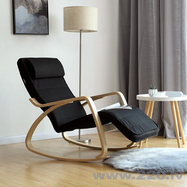 Šūpuļkrēsls Songmics 115 cm, melns atsauksme