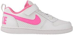 Nike Apavi Pusaudžiem Court Borough Low White Pink cena un informācija | Sporta apavi sievietēm | 220.lv