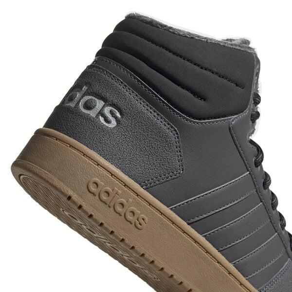 Adidas Apavi Hoops 2.0 Mid Grey internetā