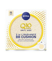 BB kompaktais pūderis Nivea Q10+ 3in1 Radiance Cushion 15 g cena un informācija | BB kompaktais pūderis Nivea Q10+ 3in1 Radiance Cushion 15 g | 220.lv