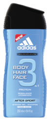 Гель для душа Adidas After Sport 3in1 250 ml