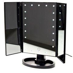 Grīdas kosmētiskais spogulis ar LED apgaismojumu un USB, balts cena un informācija | Dekoratīva kosmētika | 220.lv
