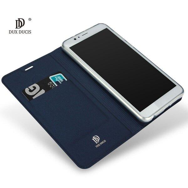 Dux Ducis Premium Magnet Case Grāmatveida Maks Telefonam Apple iPhone SE Zils lētāk