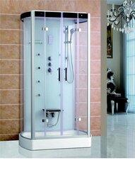 Masāžas dušas kabīne VENTO BOLOGNA 80x120x218cm, zemais (15cm) paliktnis, caurspīdīgi stikli cena un informācija | Hidromasāžas dušas kabīnes | 220.lv