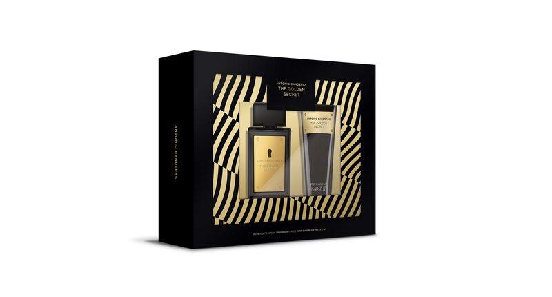 Komplekts Antonio Banderas The Golden Secret vīriešiem: EDT, 50 ml + balzams pēc skūšanās, 75 ml