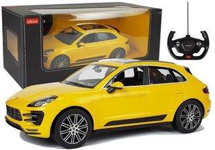 Automobilis Porsche Macan Rastar ar tālvadības pulti 1:14, dzeltens cena un informācija | Automobilis Porsche Macan Rastar ar tālvadības pulti 1:14, dzeltens | 220.lv