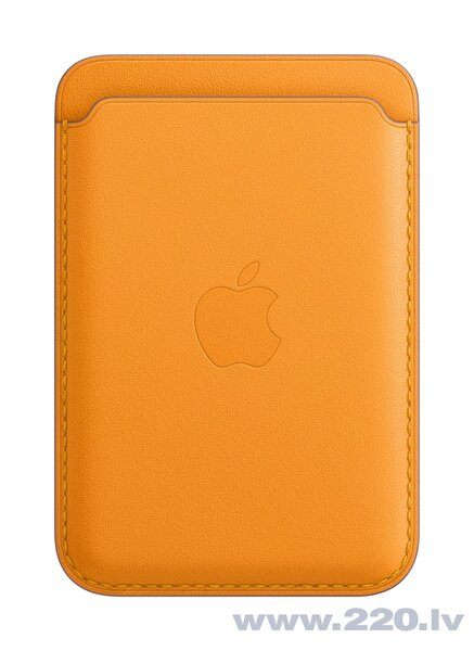 iPhone Leather Wallet with MagSafe, California Poppy